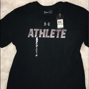 Under Armour Black short sleeve shirt HG sz Large